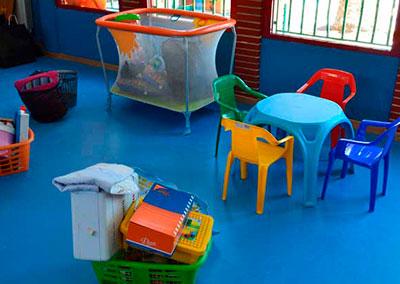 Pavimento en las aulas infantiles de La Beneficiencia