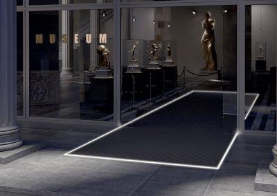 Felpudo para entrada de museos