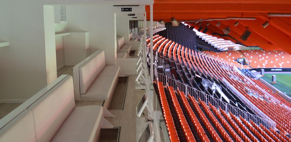 Nuevos Sky Boxes de Mestalla