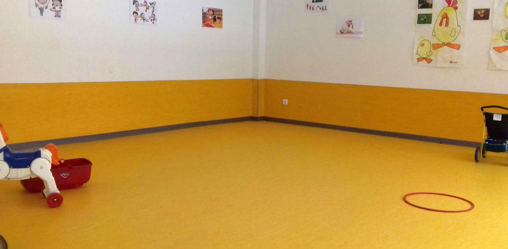 Pavimento vinílico para escuelas infantiles